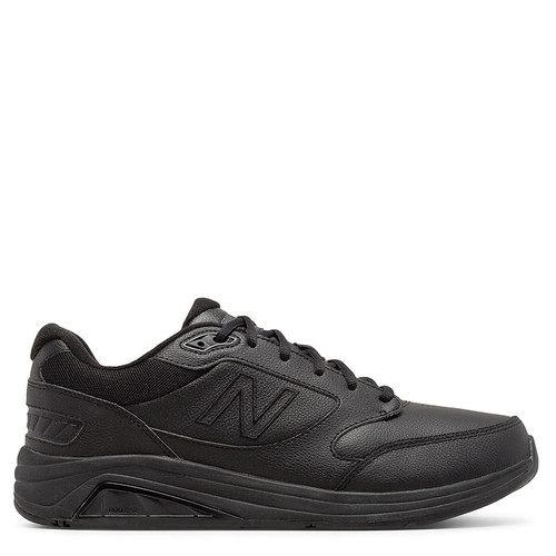 New Balance 928v3 Men's Black Leather Walking Sneakers