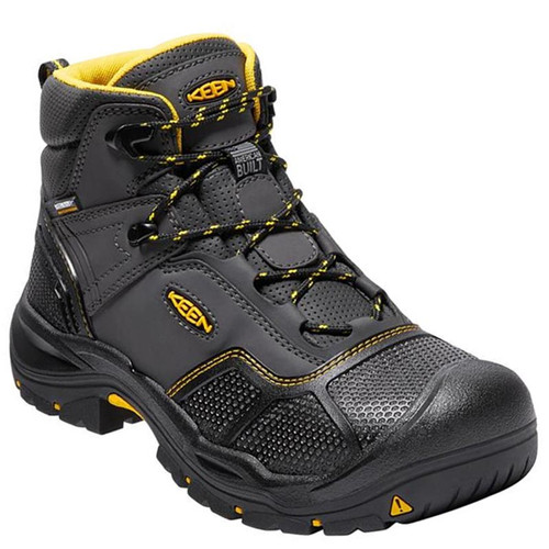 Keen Utility 1017828 USA LOGANDALE Black Steel Toe Non-Insulated Waterproof Work Boots