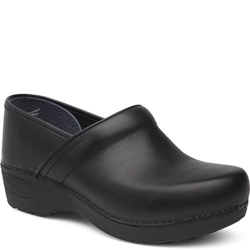 Dansko XP 2.0 BLACK PULL-UP Slip-Resistant Clogs