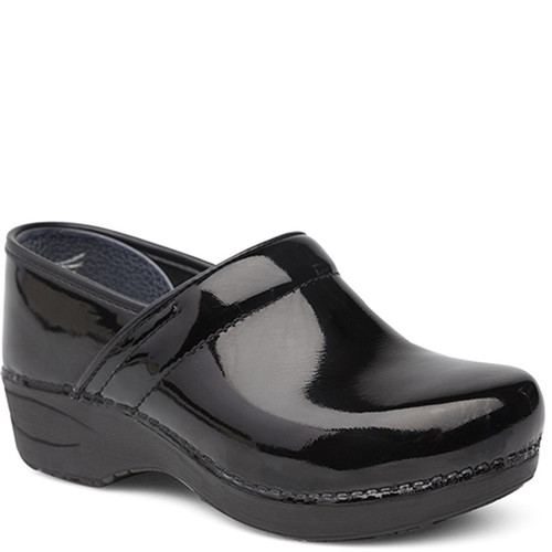 Dansko XP 2.0 BLACK PATENT LEATHER Slip-Resistant Clogs