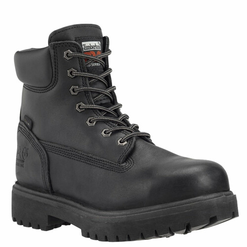 "Timberland PRO 26038001 DIRECT ATTACH 6"" STEEL TOE Black Work Boots"