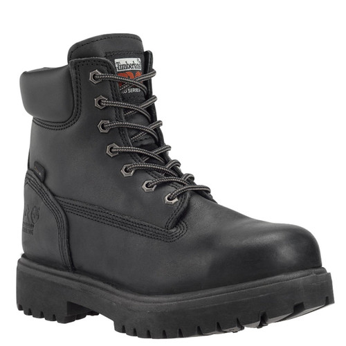 "Timberland PRO 26038 DIRECT ATTACH 6"" STEEL TOE Black Work Boots"
