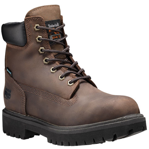 "Timberland PRO 38021242 DIRECT ATTACH 6"" STEEL TOE Brown Work Boots"
