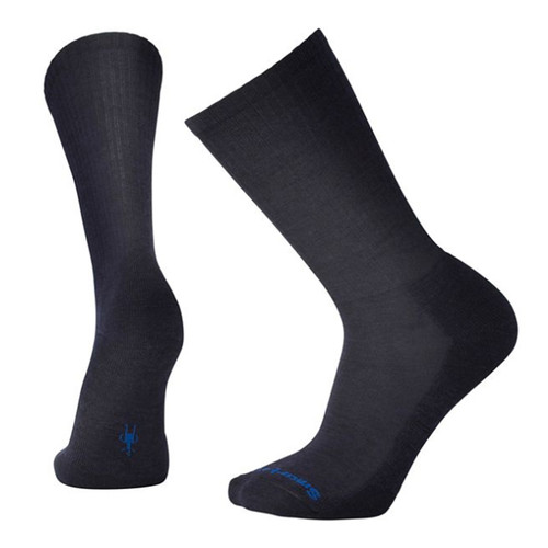 Smartwool USA Men's Navy Heathered Rib Crew Socks