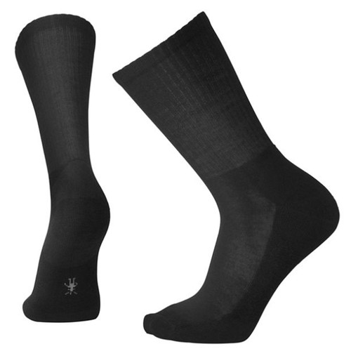 Smartwool USA Men's Black Heathered Rib Crew Socks