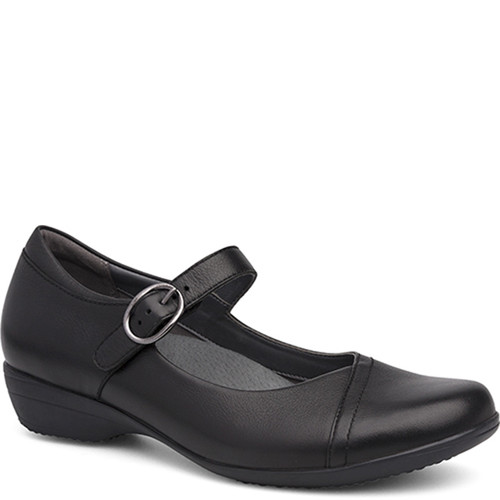 Dansko Fawna Black Milled Nappa Mary Jane Shoes