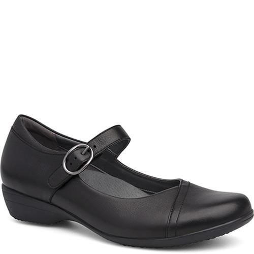 Dansko Fawna Black Milled Nappa Shoes