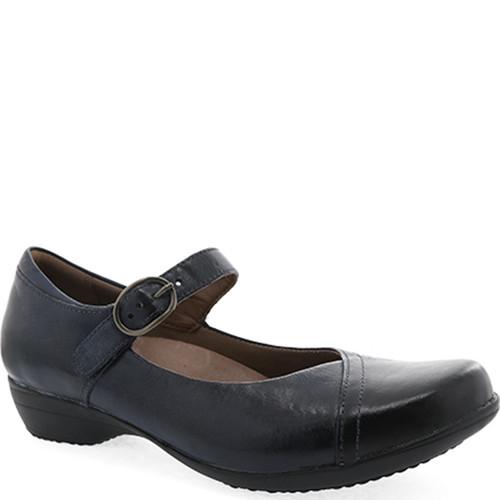 Dansko FAWNA Navy Burnished Calf Shoes