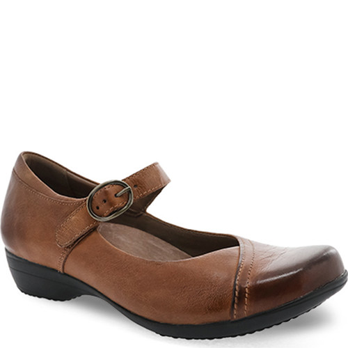 Dansko FAWNA Chestnut Burnished Calf Shoes