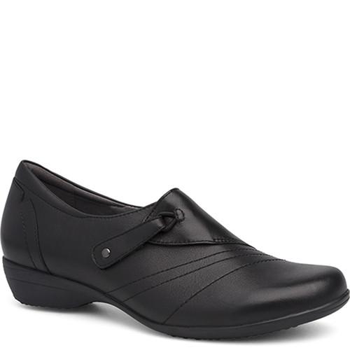 Dansko FRANNY BLACK Milled Nappa Leather Flats