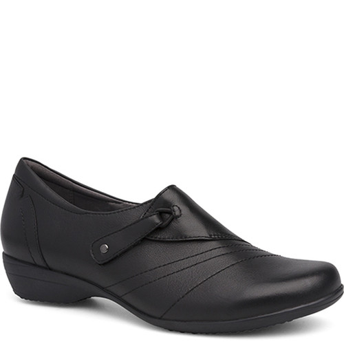 Dansko FRANNY BLACK Milled Nappa Leather Flats