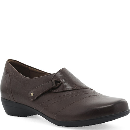 Dansko FRANNY BROWN Burnished Calf Flats