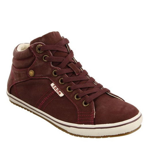 Taos 13688 TOP STAR Bordeaux Distressed Canvas Hi-Top Sneakers