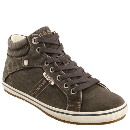 Taos 13668 TOP STAR Graphite Distressed Canvas Hi-Top Sneakers