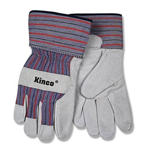 Kinco 1500 SUEDE COWHIDE PALM Safety Cuff Work Gloves