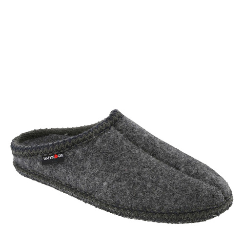 Haflinger 611002 AS7 Unisex Grey Boiled Wool Slippers