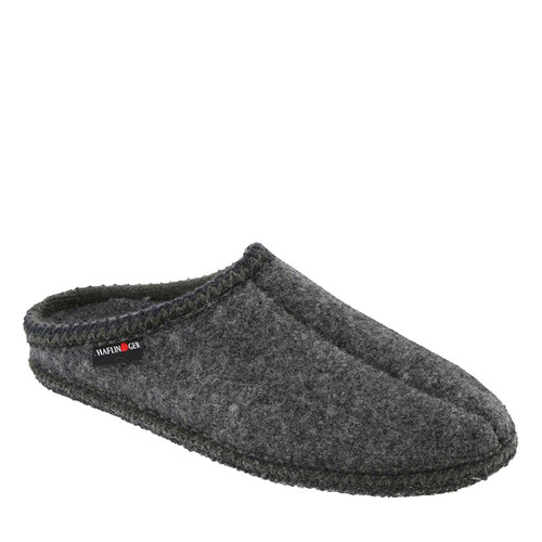 Haflinger 611002 AS7 Unisex Grey Boiled Wool Slippers
