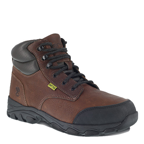 "Iron Age IA5240 GALVANIZER Steel Toe Met Guard 6"" Brown Work Boots"