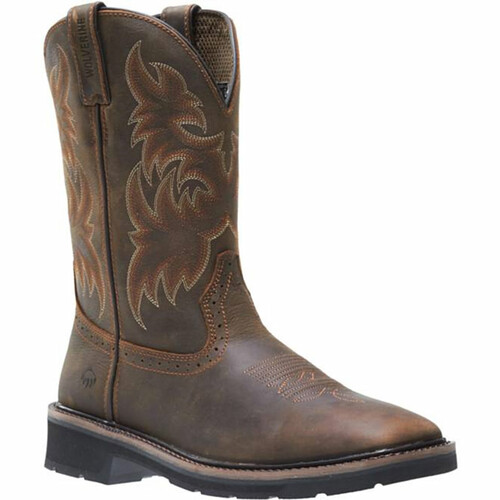 Wolverine W10702 RANCHER SQUARE TOE WELLINGTON Steel Toe Non-Insulated Work Boots
