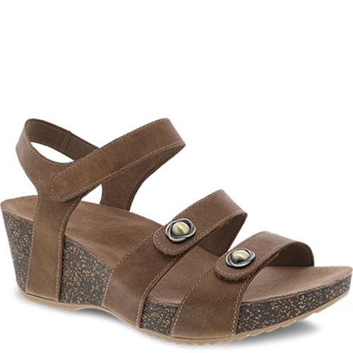 Dansko SAVANNAH Tan Waxy Burnished Sandals