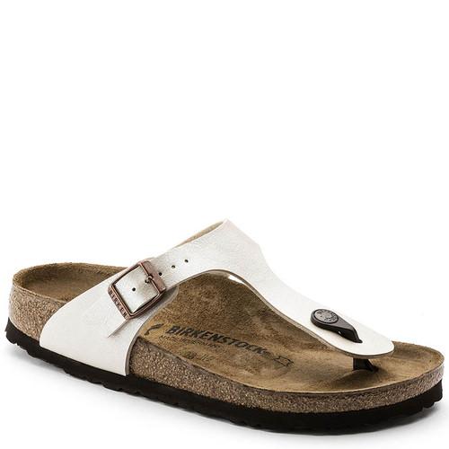 Birkenstock Women's GIZEH BIRKO-FLOR Pearl White Sandals