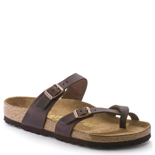 Birkenstock Women's MAYARI HABANA Oiled Leather Sandals