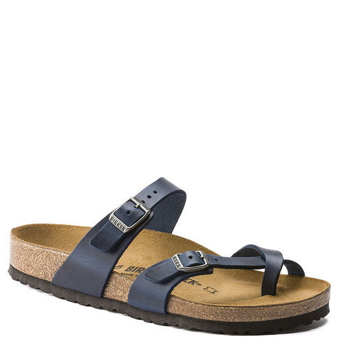 Birkenstock Women's MAYARI Blue Oiled Leather Sandals