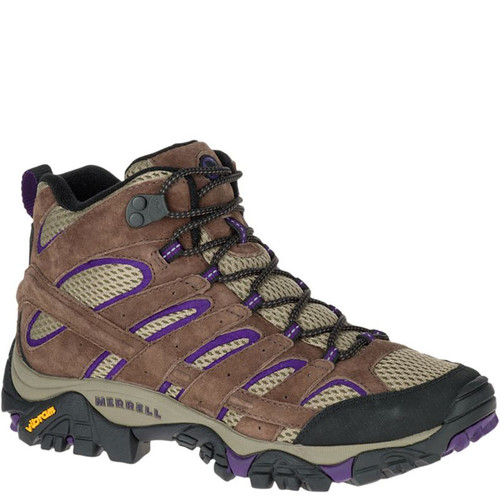 Merrell J06050 Women's MOAB 2 VENTILATOR Mid Hiking Boots Bracken Purple