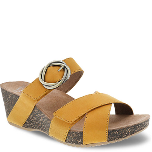 Dansko SUSIE Mango Leather Slide Sandals