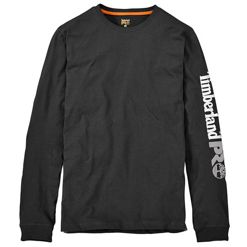 Timberland PRO LOGO LONG SLEEVE SHIRT Jet Black