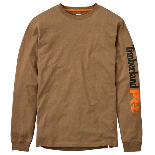 Timberland PRO LOGO LONG SLEEVE WORK SHIRT Dark Wheat