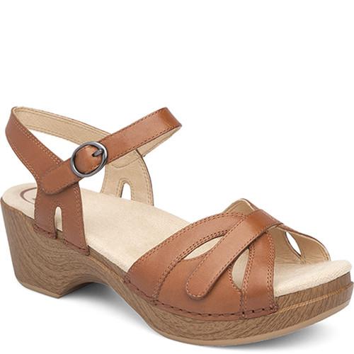 Dansko SEASON Camel Full Grain Leather Sandals