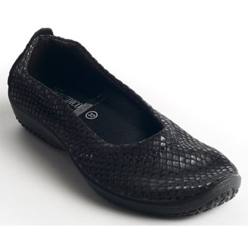 Arcopedico L15 BALLET FLATS Black Shine