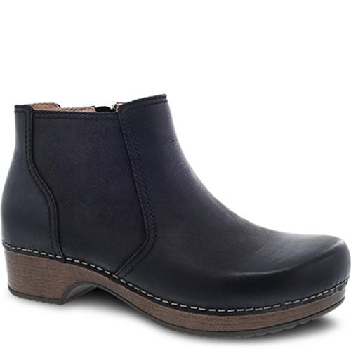Dansko BARBARA Ankle Boots Black Burnished Nubuck