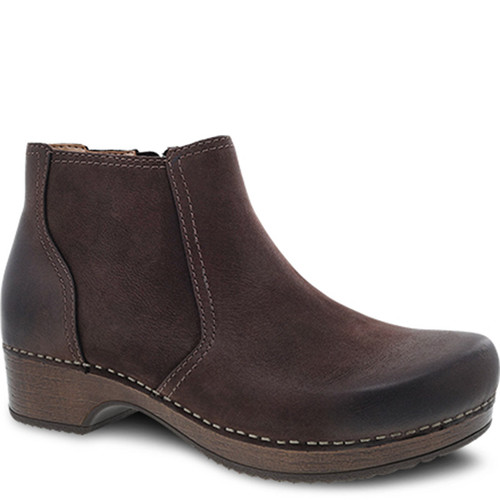 Dansko BARBARA Ankle Boots Chocolate Brown Burnished Nubuck