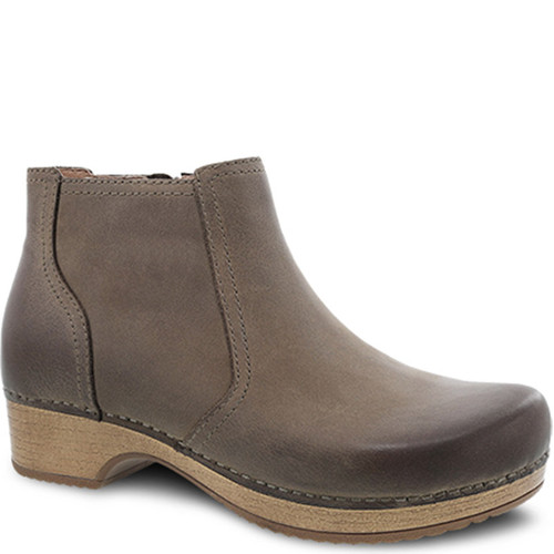 Dansko BARBARA Ankle Boots Taupe Burnished Nubuck
