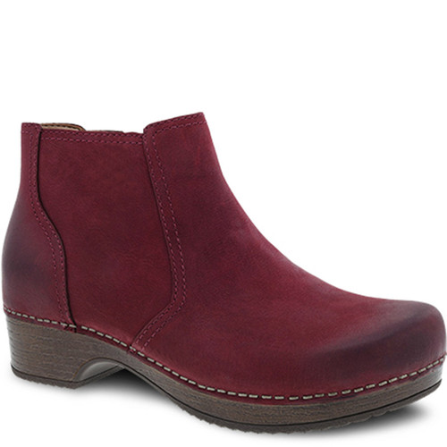 Dansko BARBARA Ankle Boots Wine Burnished Nubuck