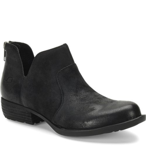 Born D89909 KERRI Black Distressed Western Inspired Ankle Boots