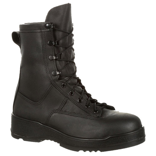 Rocky Women's RKC058 USA MADE BERRY COMPLIANT Entry Level Hot Weather Black Steel Toe Military Boots