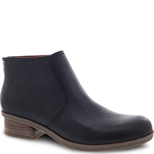 Dansko BECKI Black Waterproof Tumbled Ankle Boots