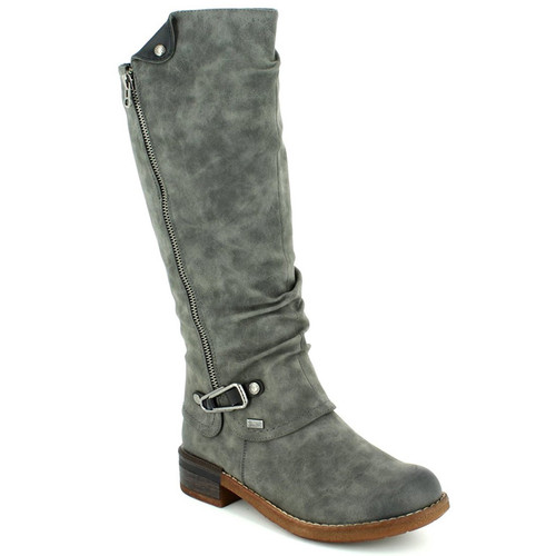 Rieker 94652-45 Women's Tall Gray Winter Boots