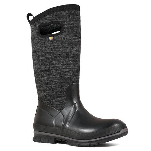 BOGS 72418-009 CRANDAL TALL KNIT Black Winter Boots
