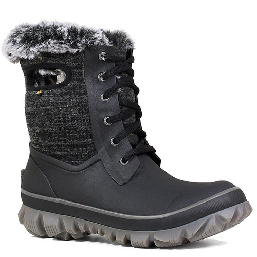 BOGS 72404-009 ARCATA KNIT Black Winter Boots