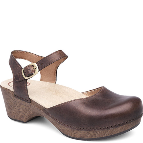 Dansko SAM Teak Open Back Mary Jane Shoes