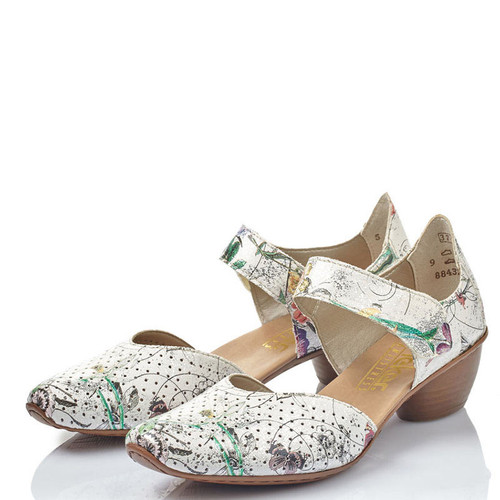 Rieker 43789-90 MIRJAM 89 ICE MULTI FLORAL Mary Jane Shoes