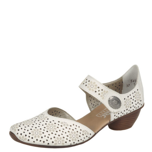 Rieker 43711-80 MIRJAM 11 WHITE Mary Jane Shoes