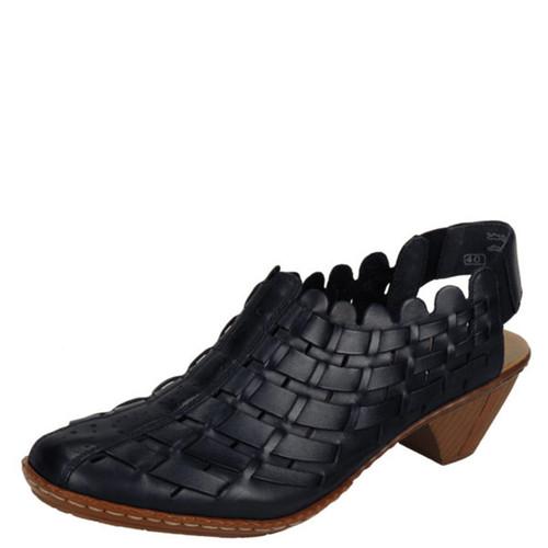 Rieker 46778 SINA BLACK Slingback Shoes