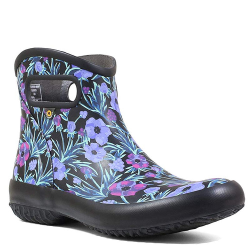 BOGS 72519-009 PATCH VINE FLORAL Black Multi Garden Ankle Boots