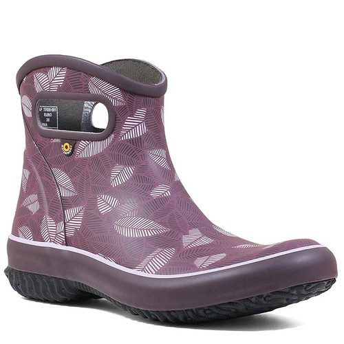 BOGS 72520-501 PATCH NEW LEAF Raisin Garden Ankle Boots