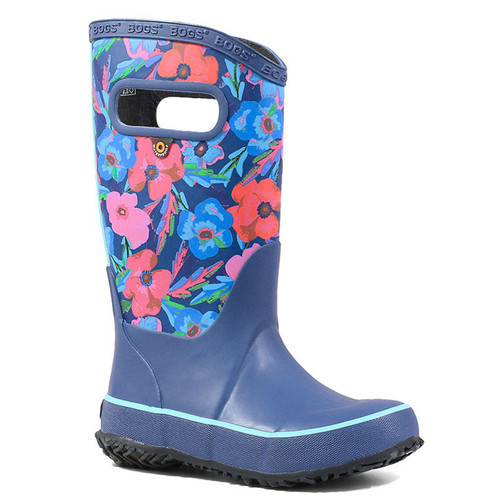 BOGS 72531-409 Kids' RAINBOOT PANSIES Indigo Multi